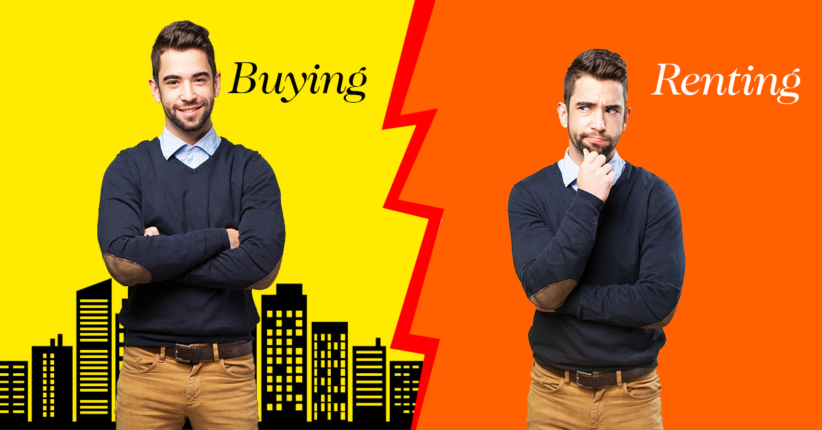 buying a home or renting a home